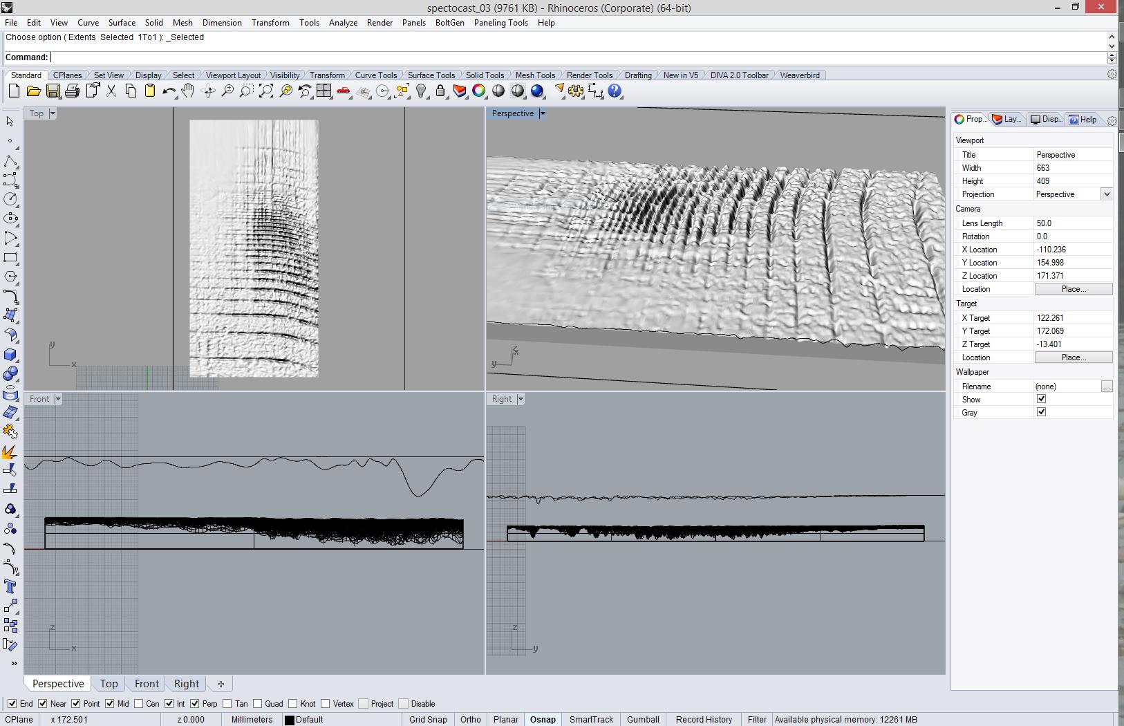Casting a Spectogram into Concrete